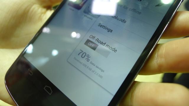 Joda, komprimering er fortsatt med og kalles Off-Road mode i nye Opera Mobile med webkit.