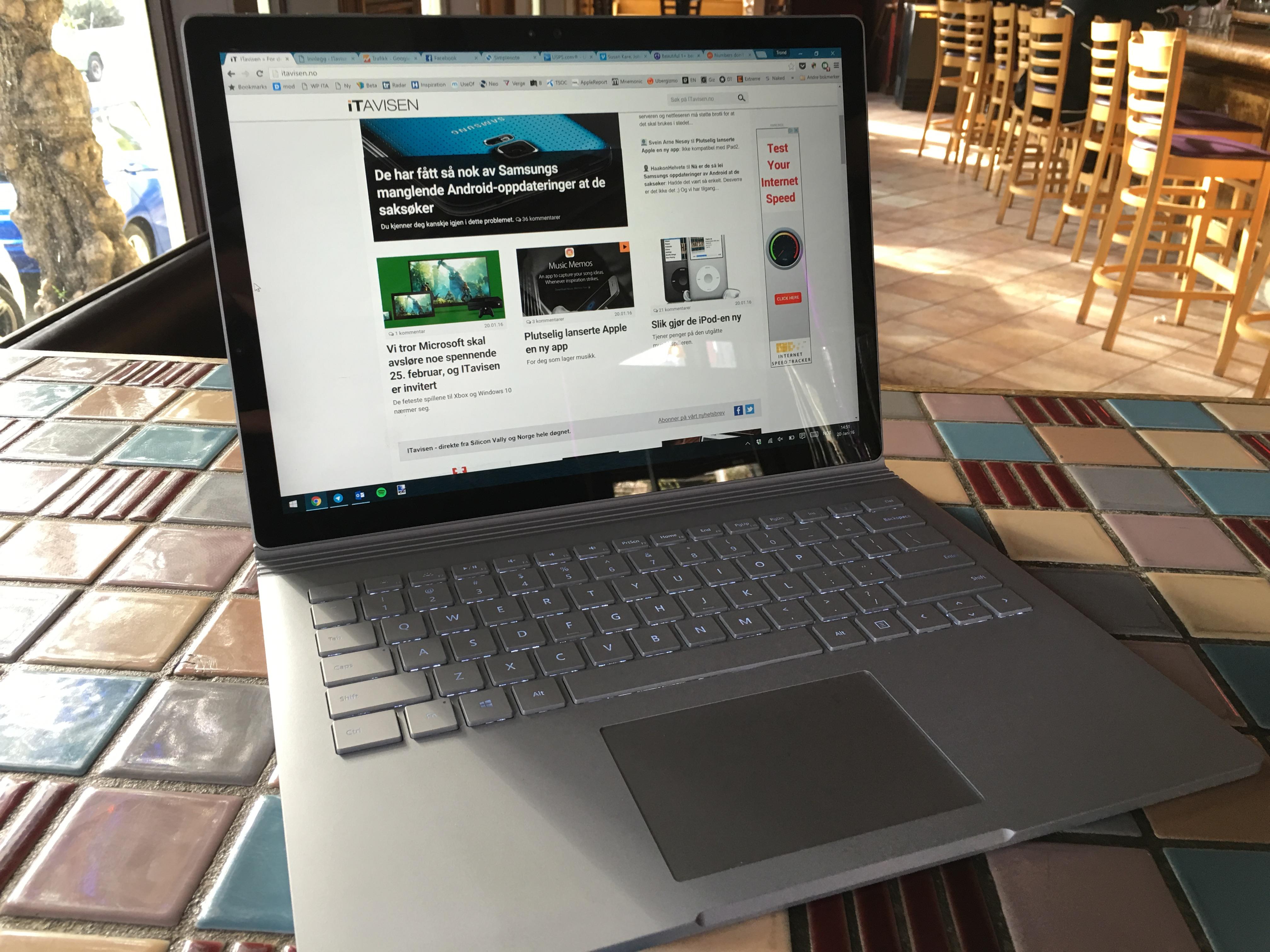 Surface Book hadde fått nesten full pott av oss hadde ikke batteriet vært så svakt.
