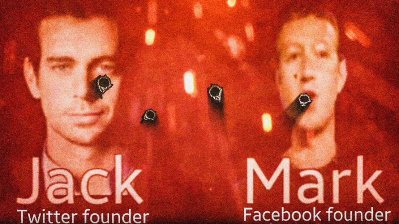 Slik truet IS-støttespillerne Mark Zuckerberg og Jack Dorsey.