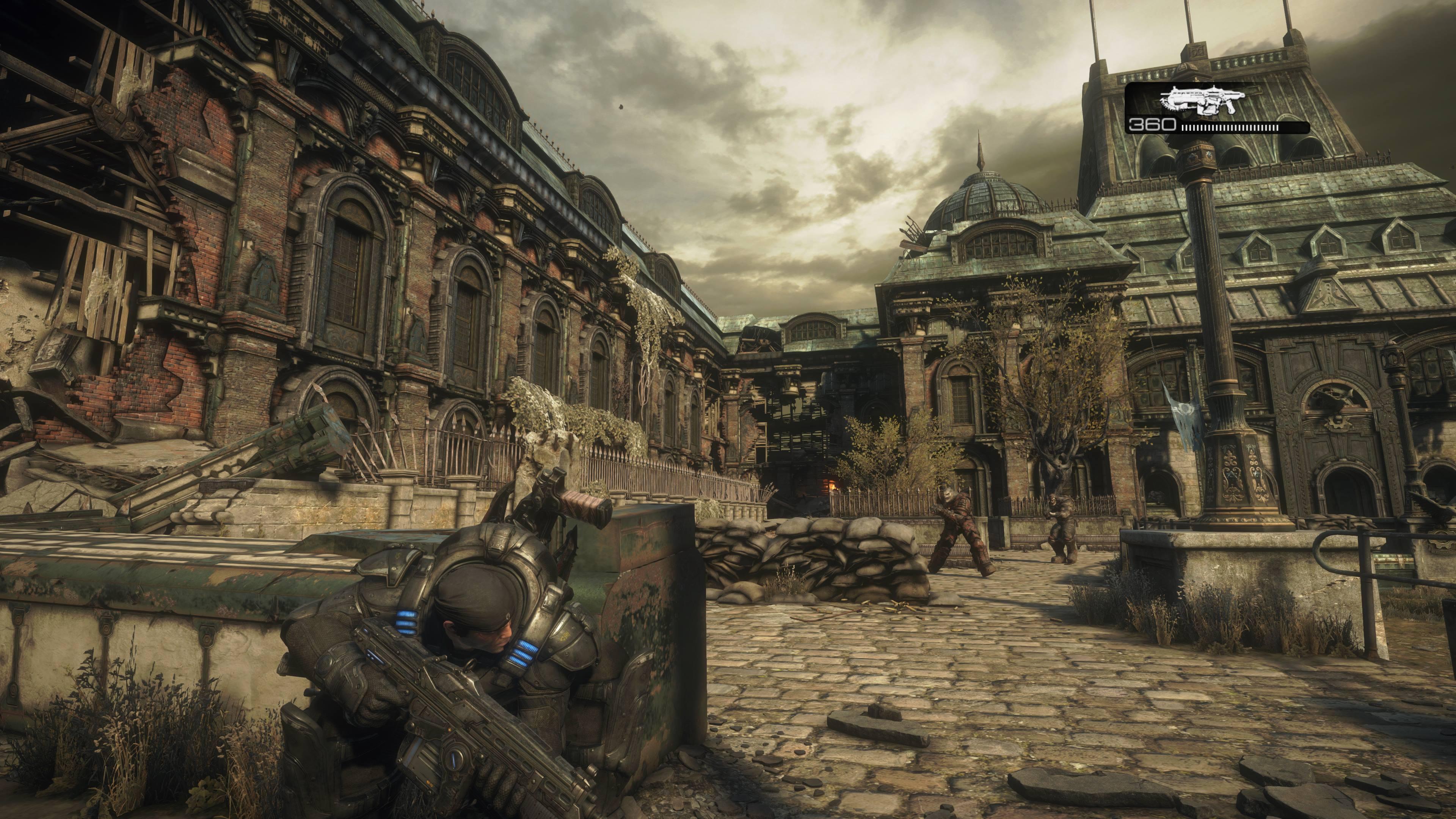 Gears of War til Windows 10 har noen vanvittige teksturer, men effektgalleriet er stort sett som man kjenner dem fra Xbox-versjonen.