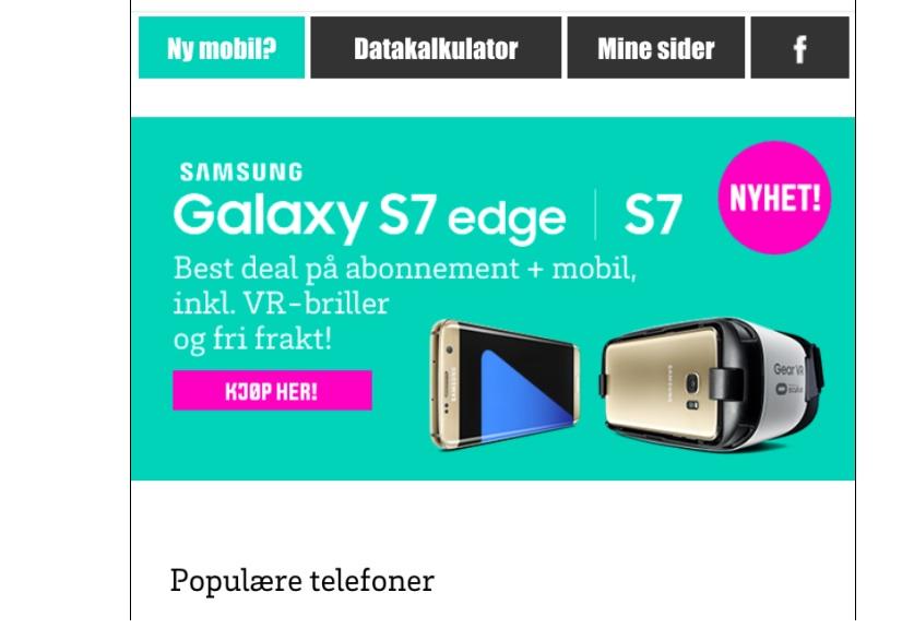 Telenor Djuice var alt for tidlig ute med denne. Galaxy S7 og S7 Edge skal ikke presenteres før førstkommende søndag. Det ventes at den er på lager en måned senere.
