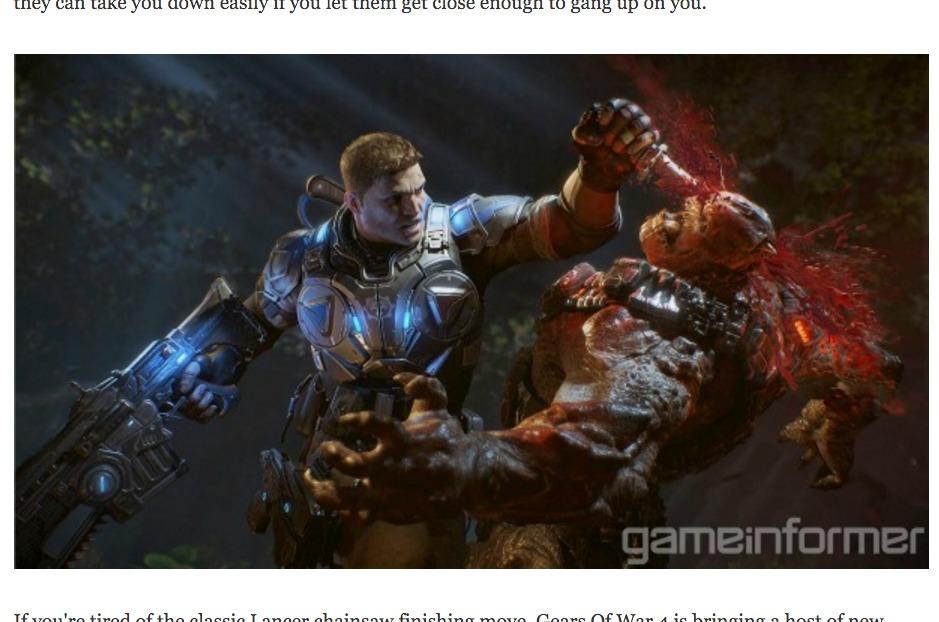 Faksimile fra GameInformer