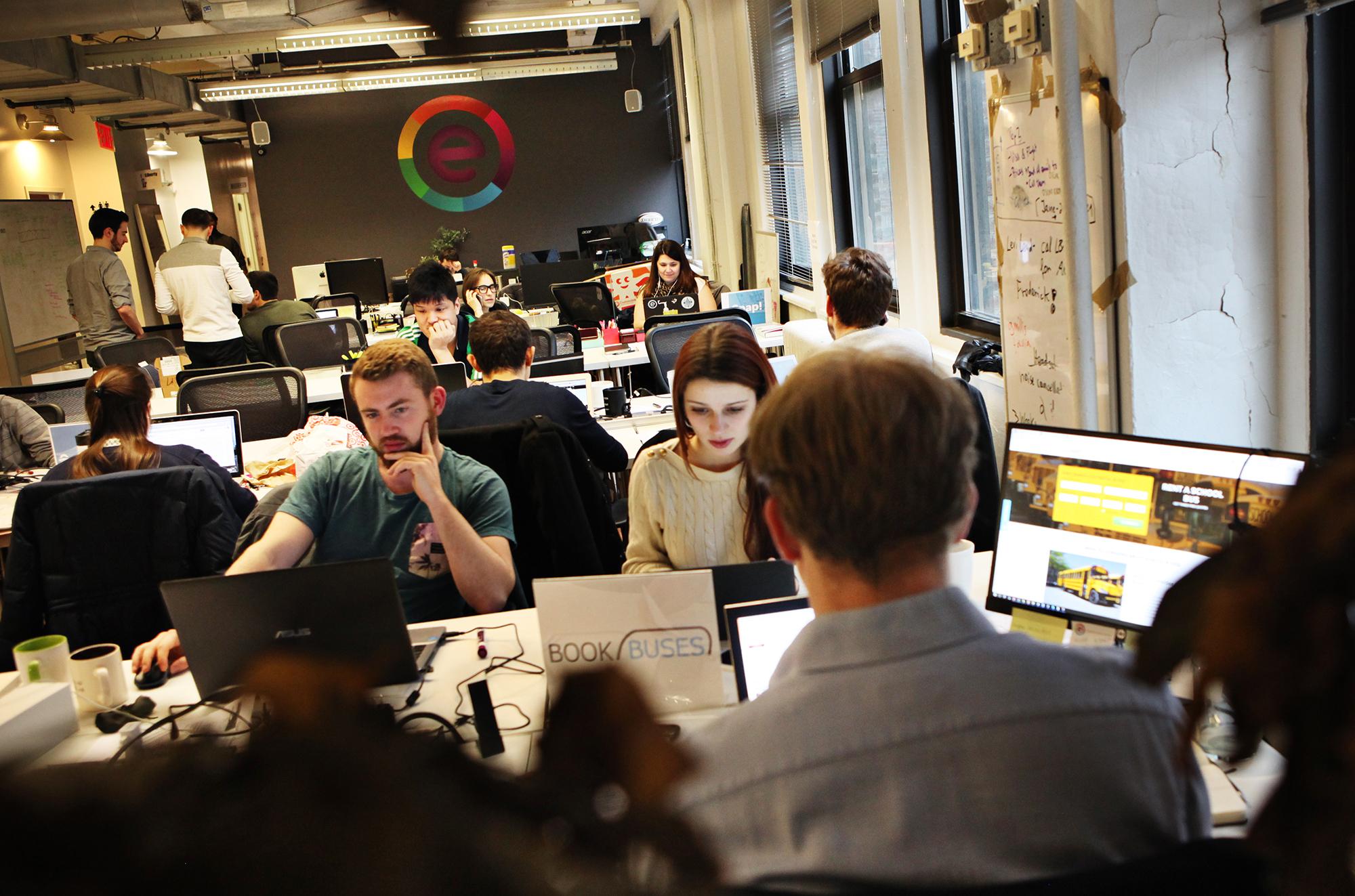 Det er flere enn én grunn til at tech startup bedrifter velger New York. Her fra kontorfellesskapet hos aksellerator ERA. I sommer skal også norske bedrifter jobbe herfra gjennom et samarbeide med Innovasjon Norge.