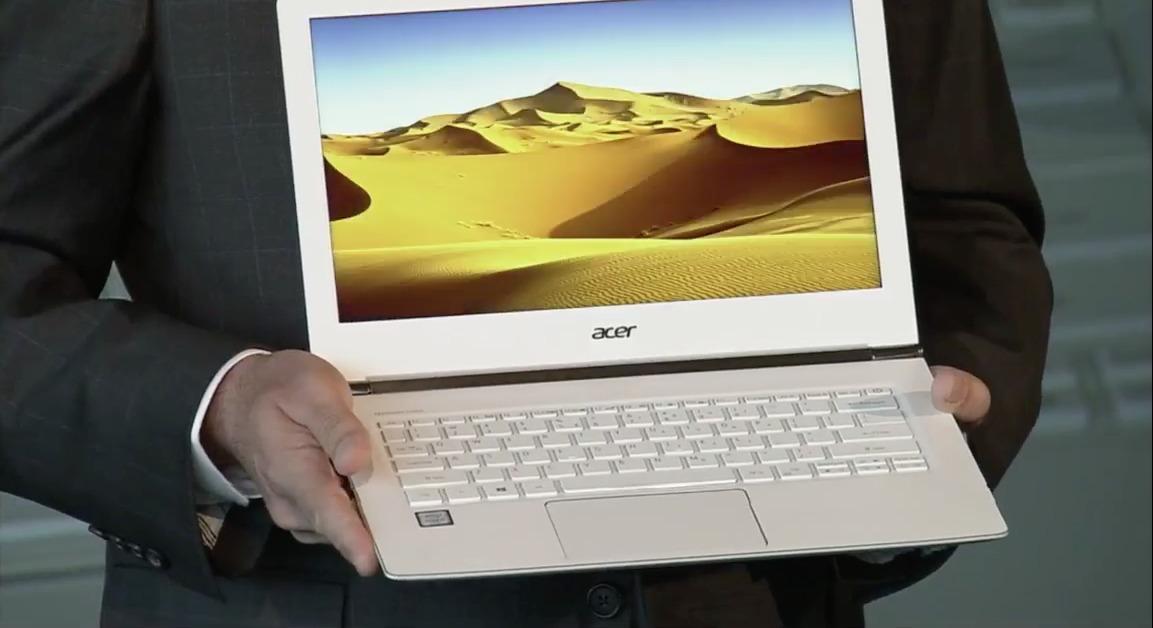 Under pressekonferansen annonserte Acer denne Macbook dødaren.