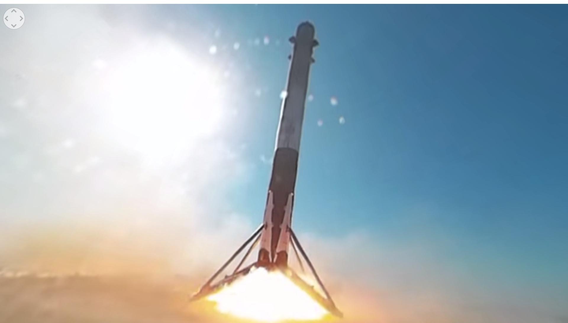 Nok en video av Falcon 9 landingen har kommet fra SpaceX, denne gangen i 360 graders format.