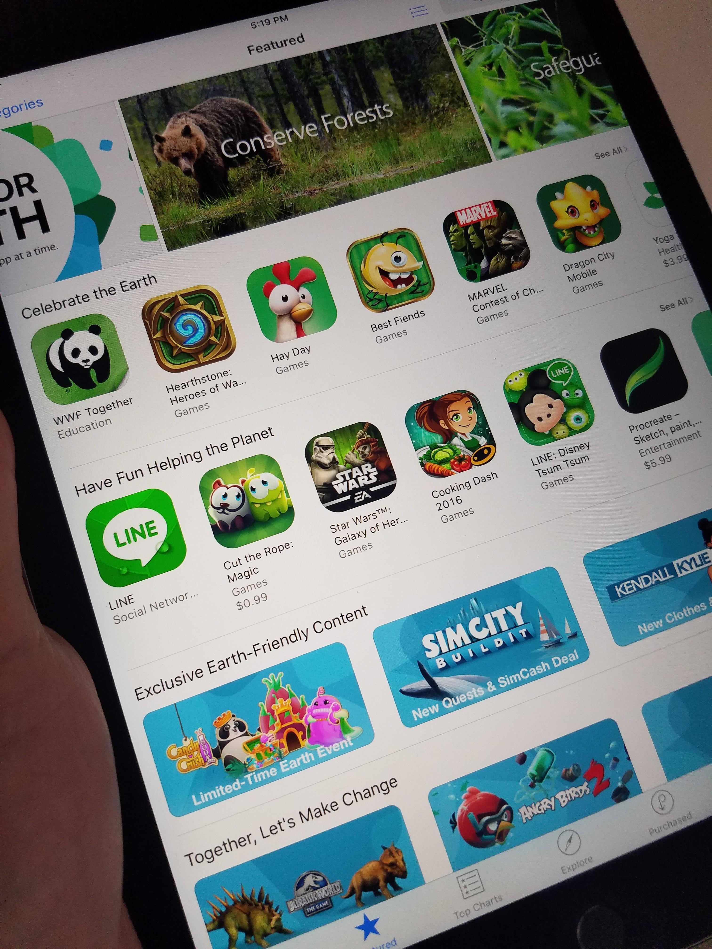 Betalte søk i App Store kan bli en realitet. Avbildet: App Store til iPad.