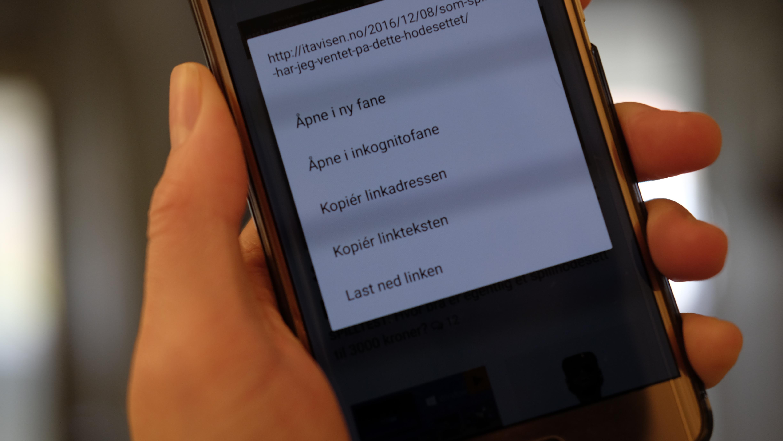 Chrome 55 for Android lar brukeren laste ned nettsider.