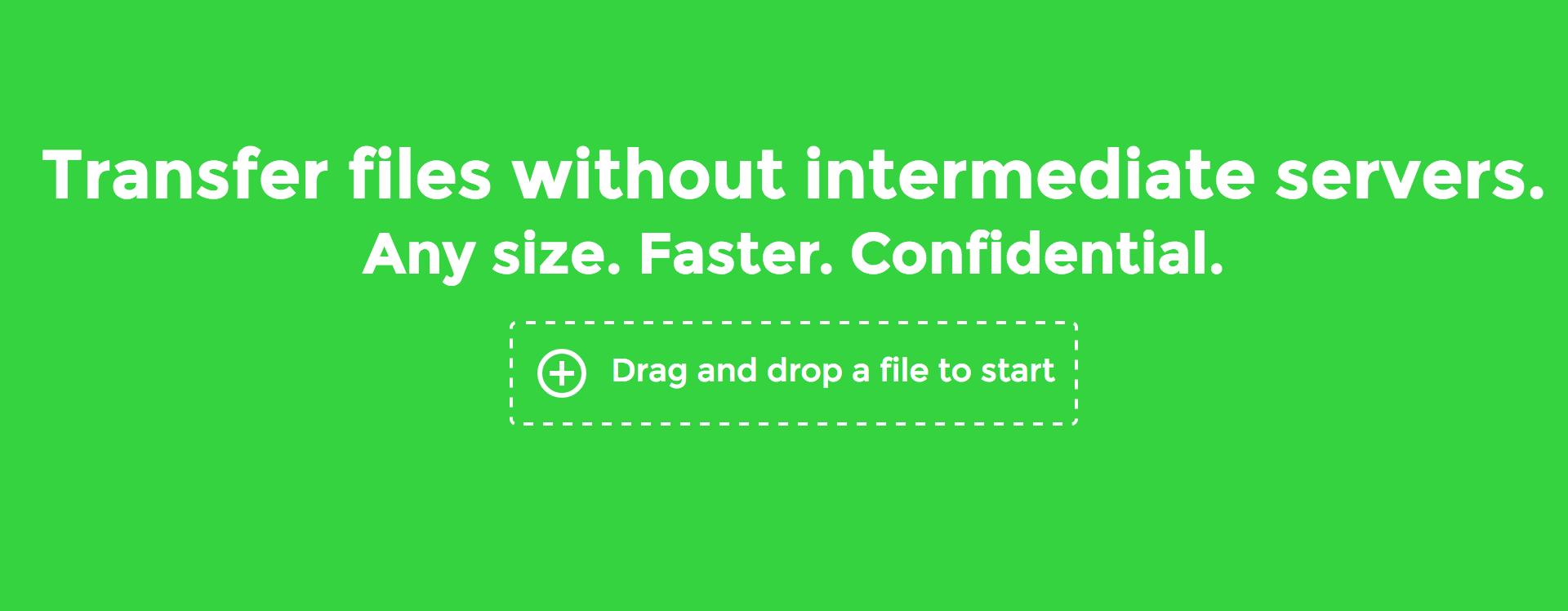 Takket være WebRTC trenger du ikke en utvidelse for å overføre filer mellom maskiner, om du bruker Chrome eller Firefox.