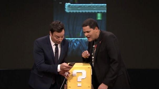 Her tester Jimmy Fallon Super Mario Run på iPhone.