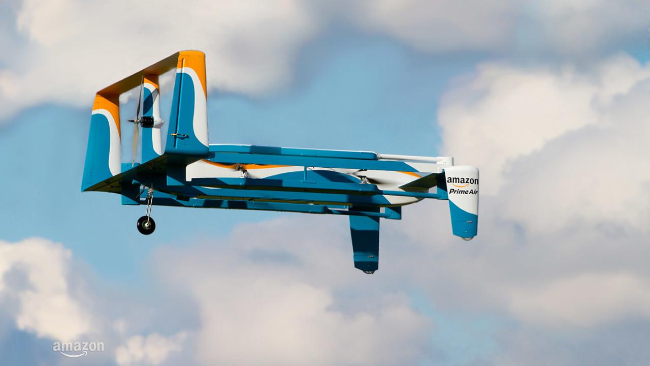 Amazons droner er for øyeblikket nærmere skyen enn det flyvende lageret.