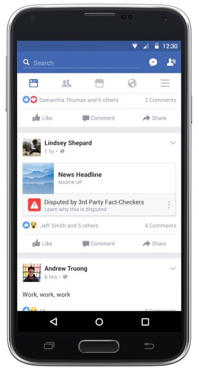 Facebook gjør det enklere for brukerne å rapportere falske nyheter.
