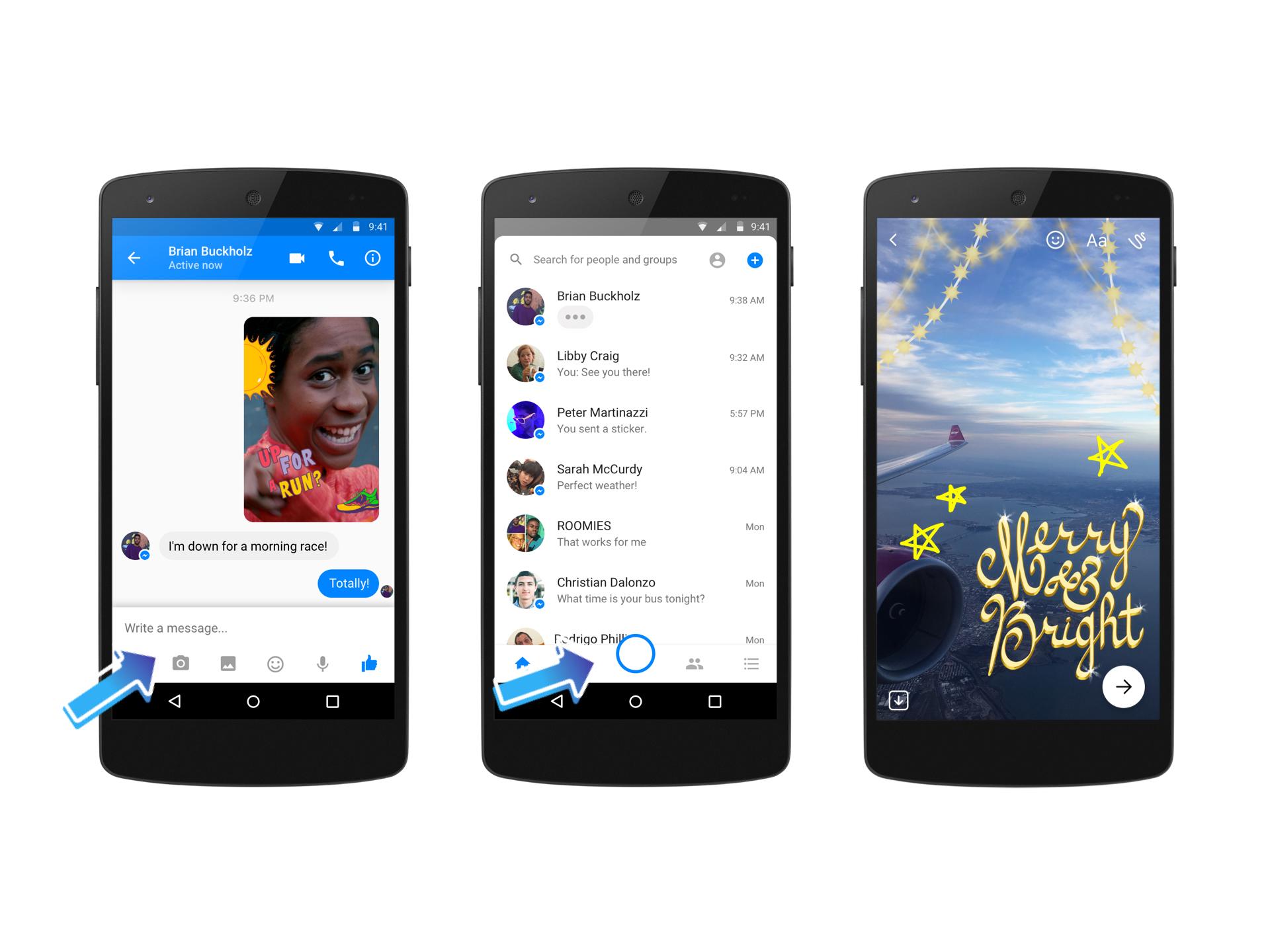 Messenger blir mer og mer lik Snapchat.