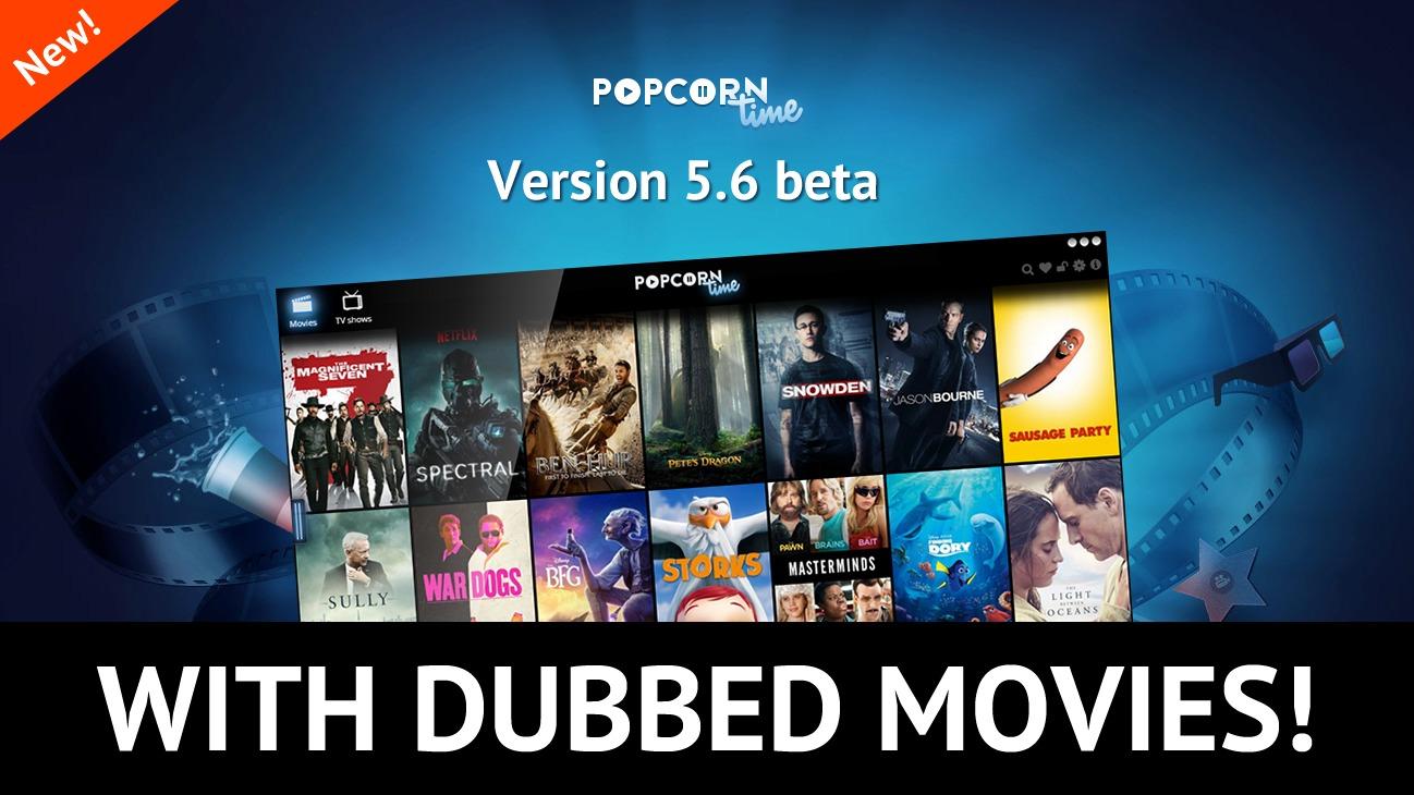 Nå dubber Popcorn Time engelskspråklig film til en rekke språk på direkten.