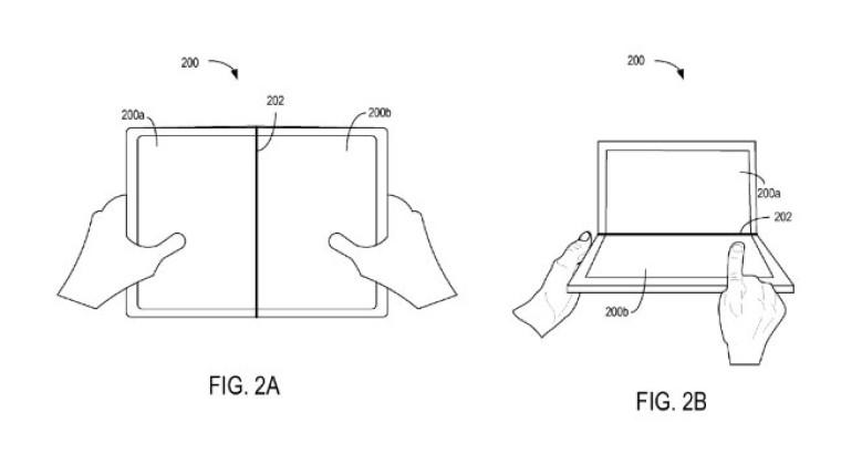 Microsofts siste patent på en brettbar skjerm er egentlig to forskjellige skjermer som skaper illusjonen av en hel skjerm.