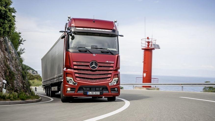 Mercedes Benz Actros oppnår autonomi på nivå 2