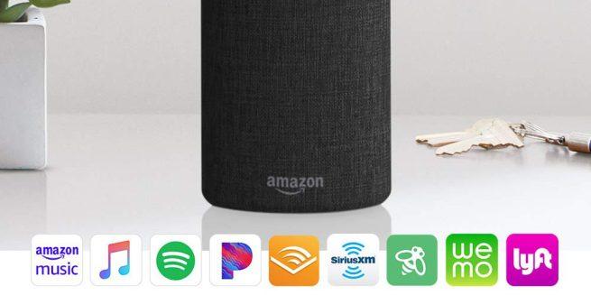 Dette bildet viser at Apple Music integreres i Echo-høyttalerne til Amazon.