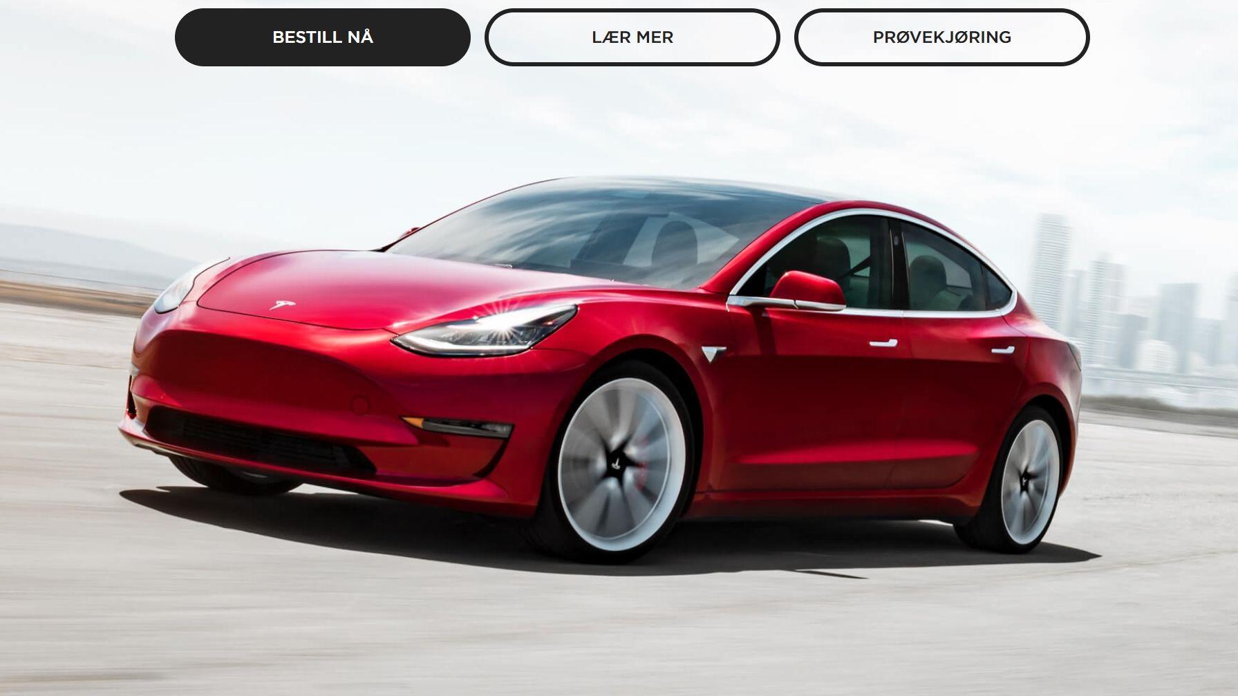 Tesla har omsider lansert rimeligere Model 3 til 35 000 dollar - kan bestilles i dag
