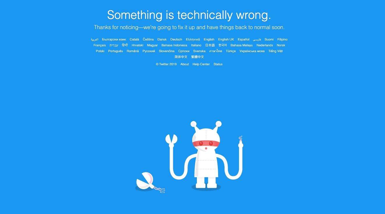 Twitter tekniske problemer
