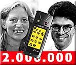 2 millioner mobiler