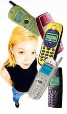 Mobiltelefoner med dame