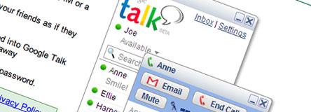 Google Talk toppsakbilde