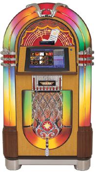 PUR NOSTALGI: Slik er vi vant til å se de klassiske jukeboxene fra Rock-Ola.
