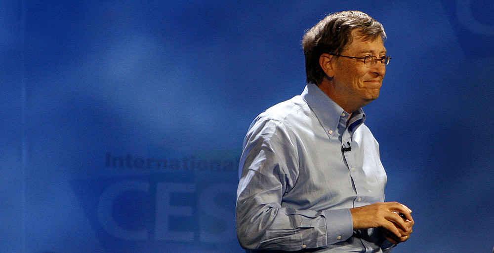PÅ VEI UT AV BILDET:  Bill Gates har holdt sin siste åpningstale på CES-messen i Las Vegas.