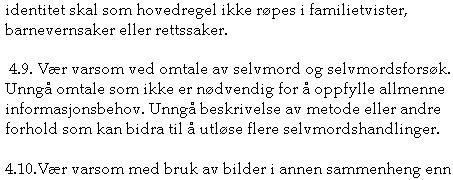 SELVMORD: Henning Herrestad mener at internettleverandørene skal ta i bruk Vær Varsom-plakatens punkt 4.9.