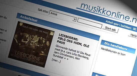DRM-fri: Hele katalogen på nesten 100 000 låter selges nå uten kopibeskyttelse i MP3-format på Musikkonline.no