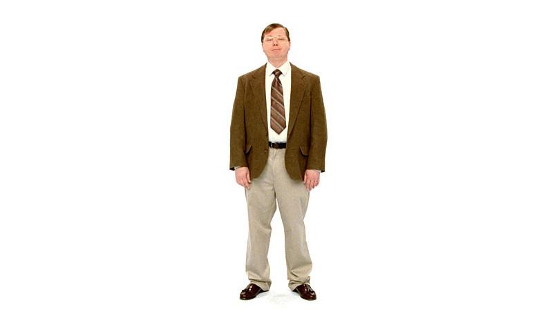 Microsofts egne PC-mann ligner mye på Apples John Hodgman som spiller PC-en i deres Mac-reklamer.