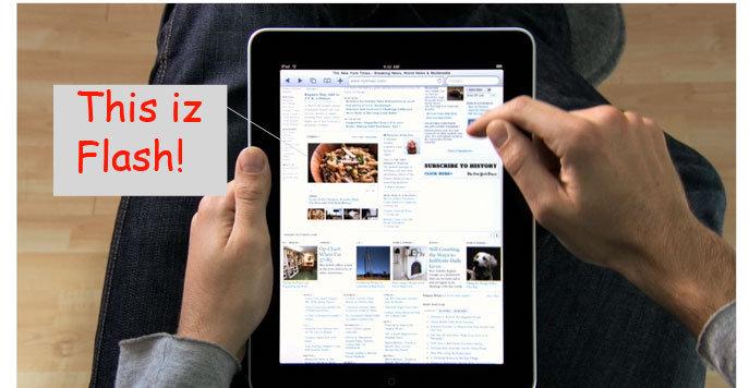 En reklamevideo beviser at iPad har Flash ifølge 9to5mac.com.