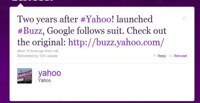 Yahoo minner folk om at de allerede for to år siden lanserte sin egen Buzz.