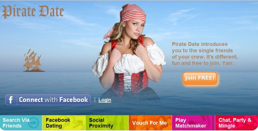 Slik markedsfører den nye sjekketjenesten seg på piratedate.com.