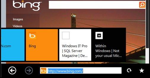 Metro-nettleseren i Windows 8.