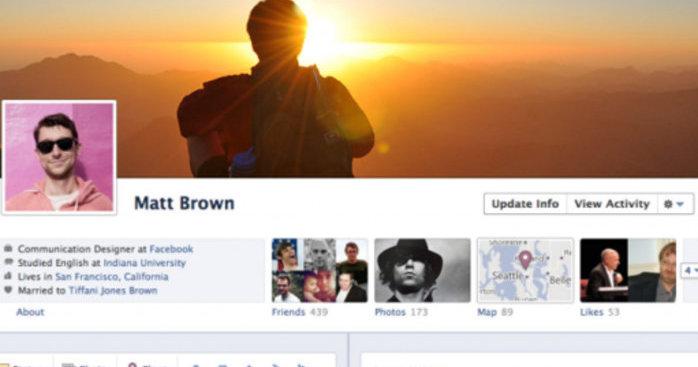 Din nye Facebook-profil.