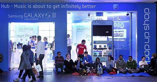 Samsungs midlertidige butikk i Sydney satt opp kun for å stjele iPhone 4S-kunder fra Apple.