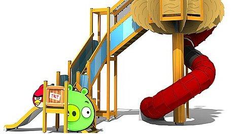 Slik ser selskapet Rovio og Lappset Group for seg en Angry Birds-sklie.