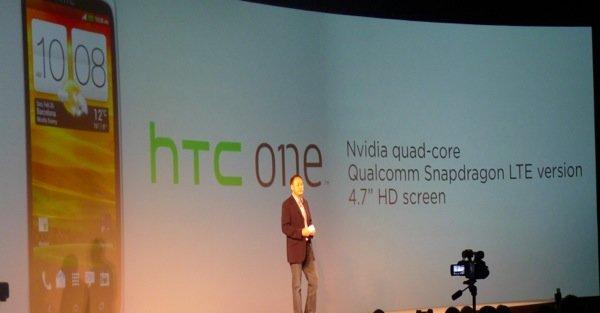 HTC fortsetter sin skumle trend, og faller hele 79 prosent i forhold til samme kvartal 2011. Bildet er fra lanseringene under Mobile World Congress i februar i år.