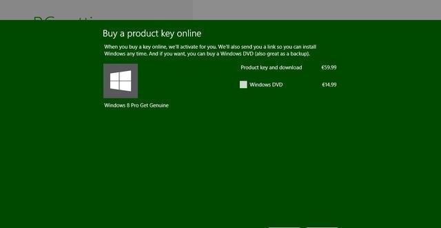Kun rett under 500 kroner for den beste utgaven av Windows 8 er ikke verst, men da må du laste ned selv.