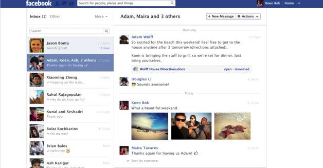 Facebooks nye meldingssystem kommer visstnok en eller annen gang i løpet av dagen.