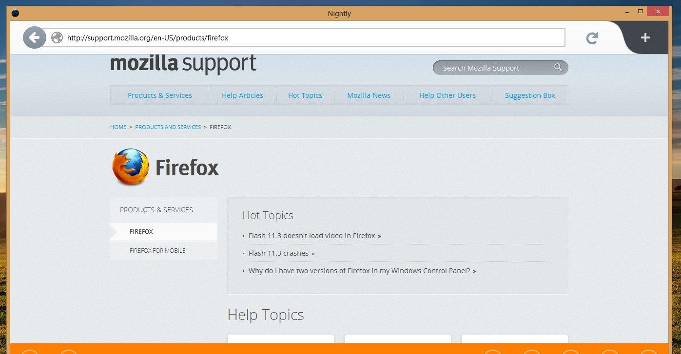 Slik er Firefox 18 i «Metro»-drakt.