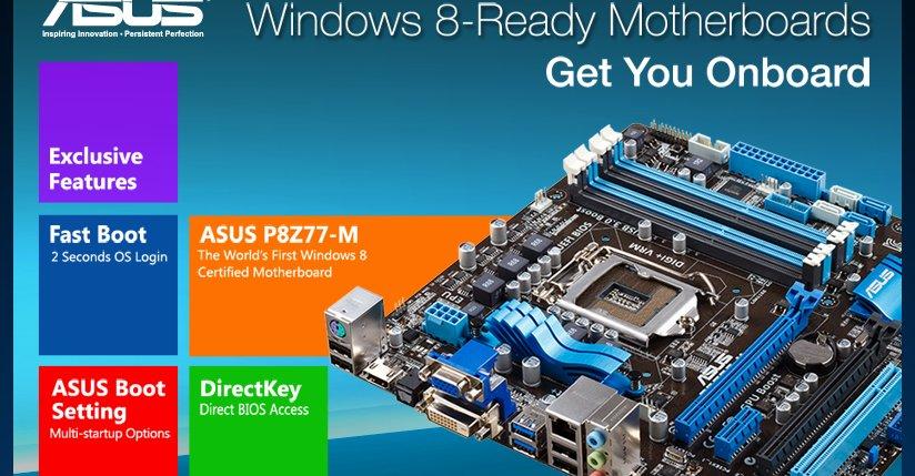 ASUS er klare for Windows 8 26. oktober.