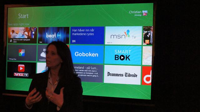 Hege Skryseth i Microsoft Norge satte fokus på norske apps.