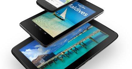 Nexus 4, Nexus 7 og Nexus 10.