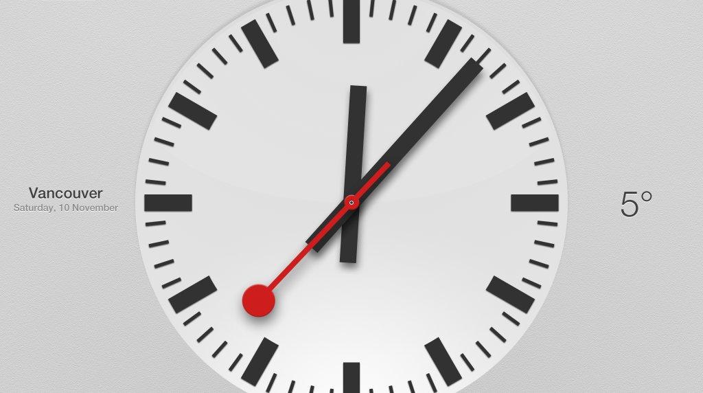 Dette klokkedesignet tilhører det sveitsiske togselskapet SBB.