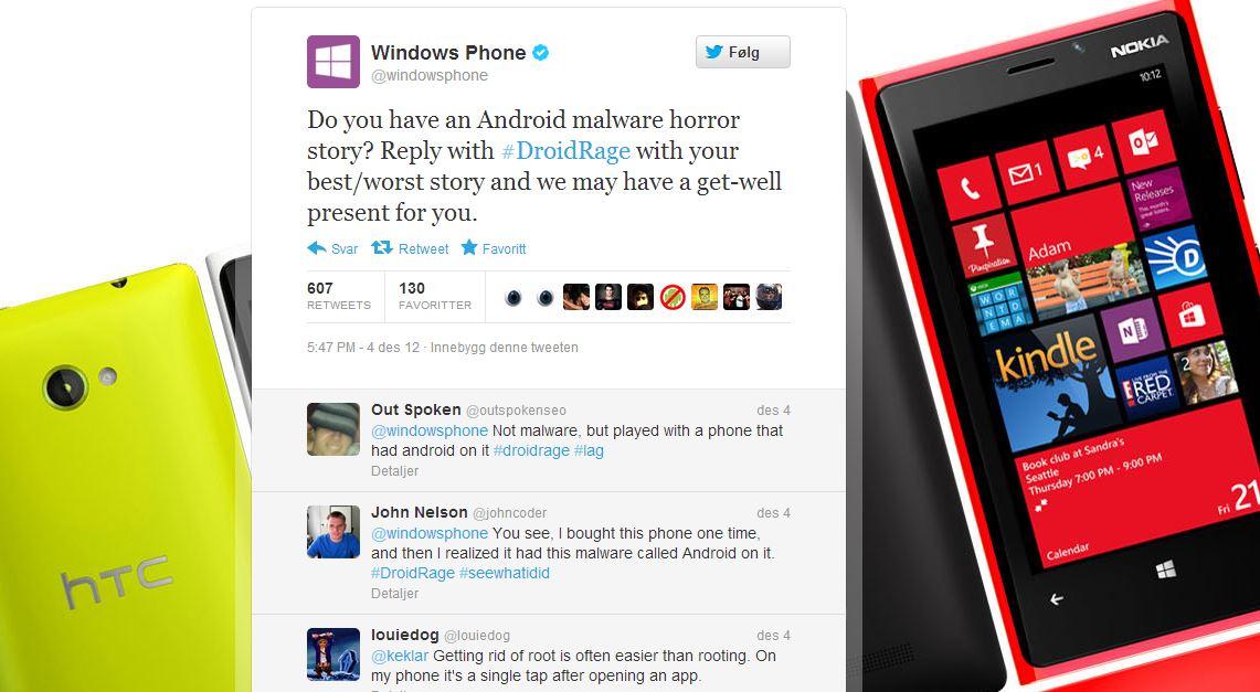 Microsoft etterlyste skrekk-historier fra Android-verdenen. De fikk svar på tiltale...