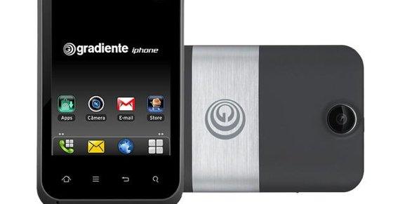 Denne heter IPHONE, men kjører Android-OS.