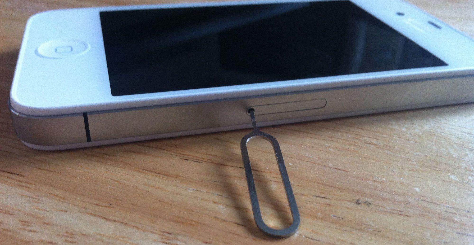 Denne måten å fjerne og sette inn nytt SIM-kort er det nå bare Apple som kan bruke.