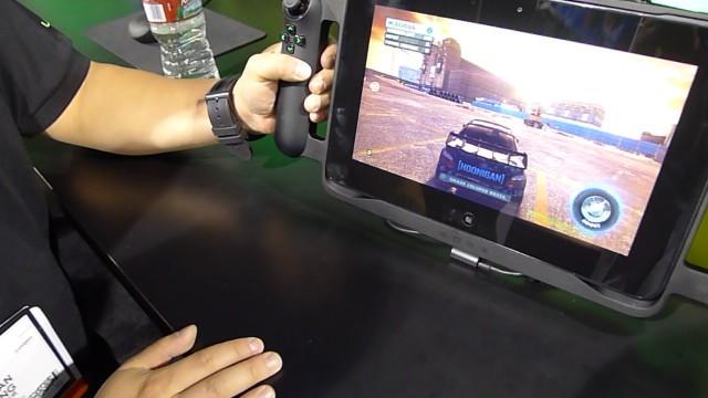 Razer Edge kjører Dirt via Steam.