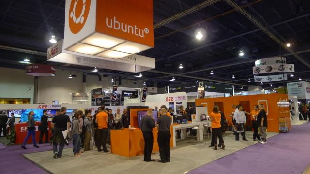 Ubuntus relativt beskjedne CES-stand.